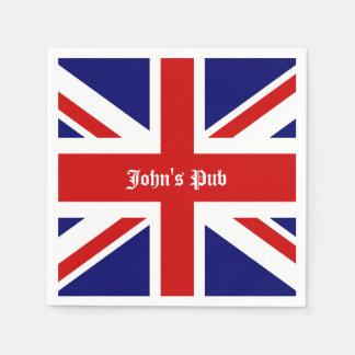 Union Jack personalizou o bar britânico Guardanapo De Papel