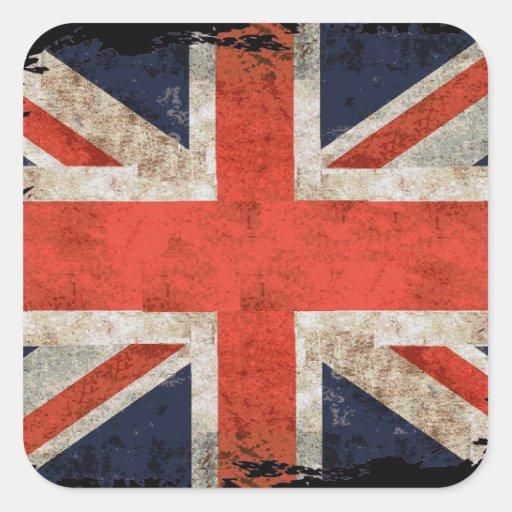 Union Jack shredded envelhecido Adesivo