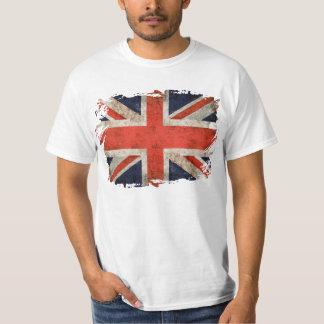 Union Jack shredded envelhecido Camiseta