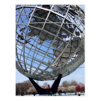 Unisphere, terras da feira de mundo, cartão do