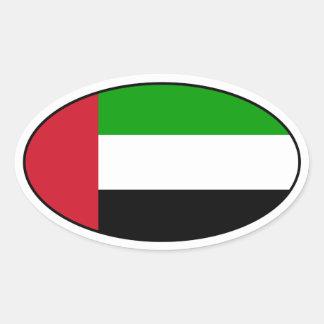 United Arab Emirates embandeiram a etiqueta oval Adesivo Oval