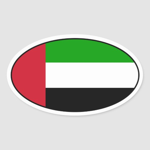 United Arab Emirates embandeiram a etiqueta oval Adesivos