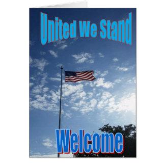 """""""Uniu-nos estão"""" o cartão novo do cidadão dos E.U."""