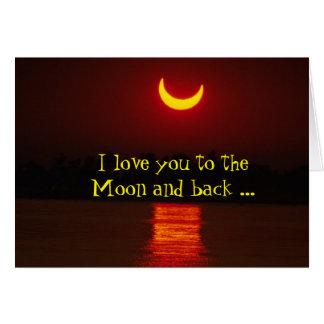 Universal nós amamo-lo aos cartões de nota da lua