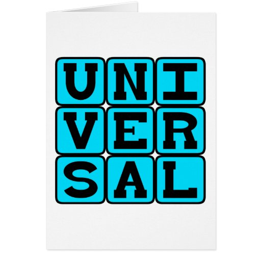 Universal, Todo-Abrangendo Cartao