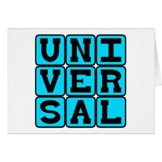 Universal, Todo-Abrangendo Cartão Comemorativo