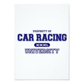 Universidade das corridas de carros convites personalizados