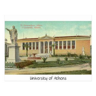 Universidade de Atenas, cartão Cartoes Postais