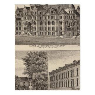 Universidade de Garfield, Kansas Cartão Postal