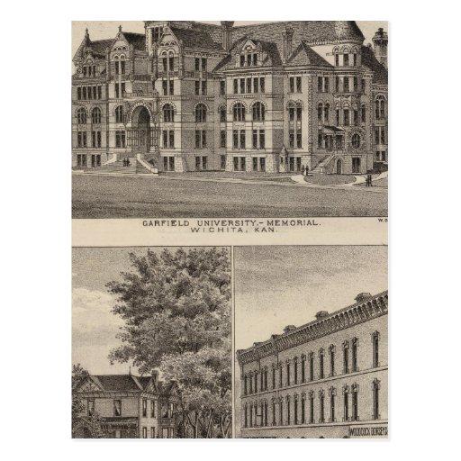 Universidade de Garfield, Kansas Cartoes Postais