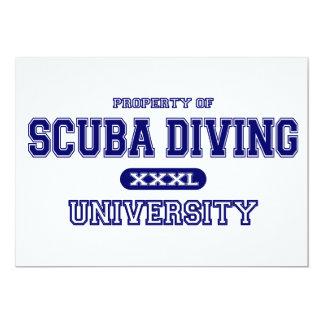 Universidade do mergulho autónomo convites personalizado