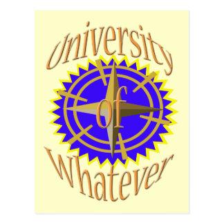 Universidade do que quer que cartão postal