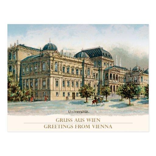 University of Vienna - universidade Viena Cartoes Postais