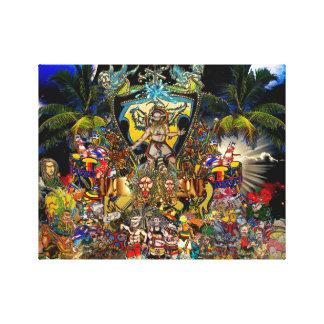 Universo da reggae impressão de canvas envolvida