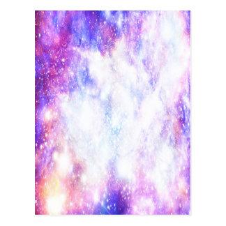 Universo do arco-íris cartão postal