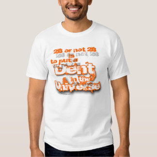 Universo do denteamento corajoso t-shirt