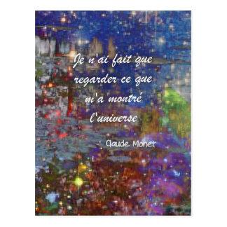 Universo e Monet Cartão Postal