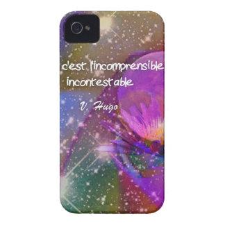 Universo, flor e citações sobre o deus capas para iPhone 4 Case-Mate