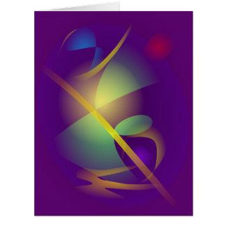 Universo translúcido cartão comemorativo grande