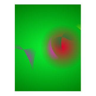 Universo verde e um sol vermelho cartões postais