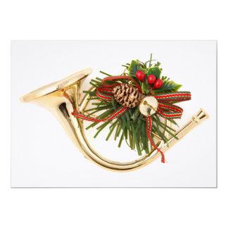 Uns enfeites de natal do instrumento musical convite 12.7 x 17.78cm