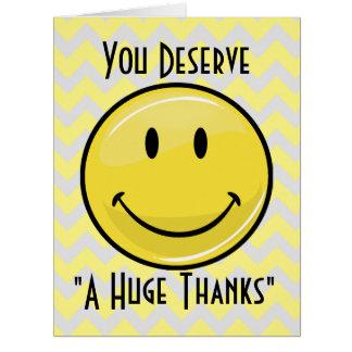 Uns grandes cartões de agradecimentos grandes do