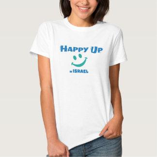 Up® feliz em Israel - meio básico das senhoras T-shirt