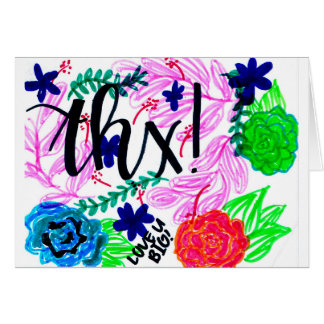 Uplifting, cartões de agradecimentos desenhados