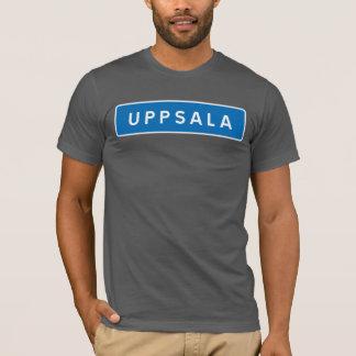 Upsália, sinal de estrada sueco camiseta