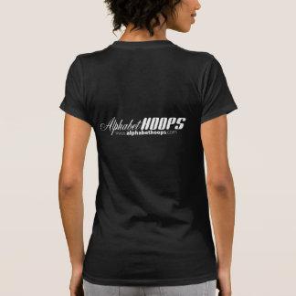 URL das aros do alfabeto no fundo preto Camiseta