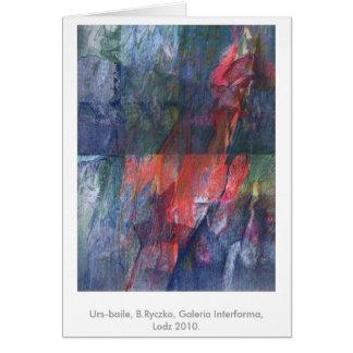 Urs-baile, B.Ryczko, Galeria Interforma, Lodz 2010 Cartão De Nota