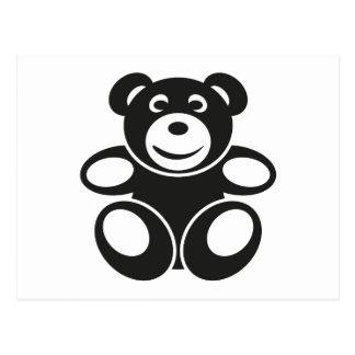 Ursinho bonito com um sorriso cartão postal