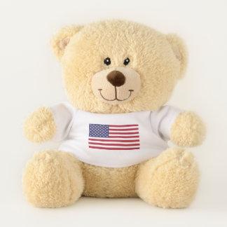 """Ursinho De Pelúcia 11"""" urso de ursinho de Sherman com bandeira dos"""