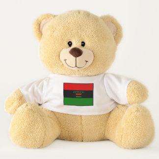 Ursinho De Pelúcia A bandeira de África colore o urso de ursinho