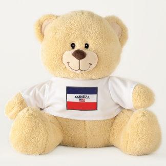 Ursinho De Pelúcia A bandeira de América colore o urso de ursinho