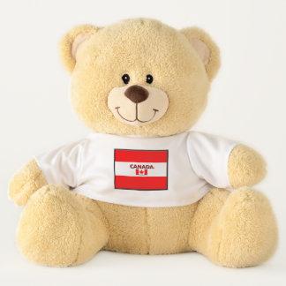 Ursinho De Pelúcia A bandeira de Canadá colore o urso de ursinho