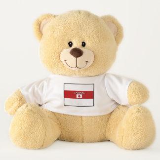 Ursinho De Pelúcia A bandeira de Japão colore o urso de ursinho