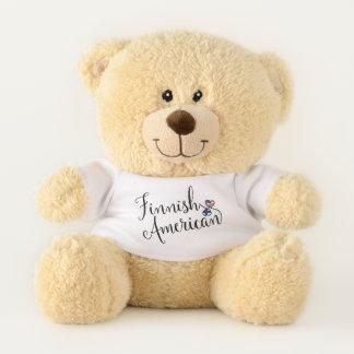Ursinho De Pelúcia Americano finlandês urso de ursinho entrelaçado