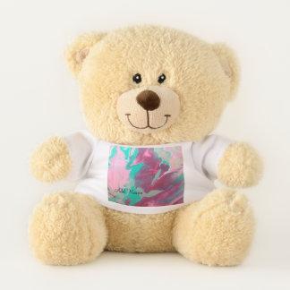 Ursinho De Pelúcia Aqua personalizado & urso de ursinho cor-de-rosa