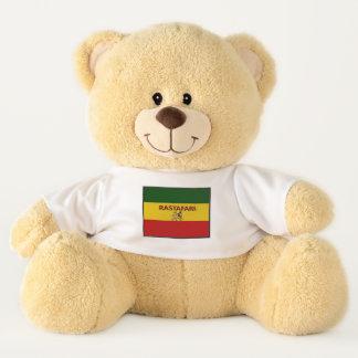 Ursinho De Pelúcia As cores de Rastafarian couberam o urso de ursinho