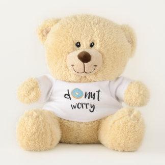 Ursinho De Pelúcia Azul da preocupação da rosquinha