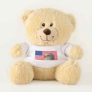 Ursinho De Pelúcia Bandeira americana & urso de ursinho de Eagle
