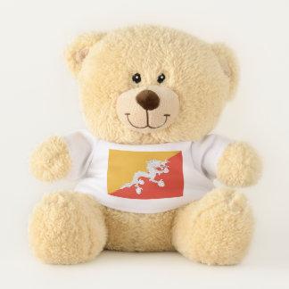 Ursinho De Pelúcia Bandeira patriótica do urso de ursinho de Bhutan