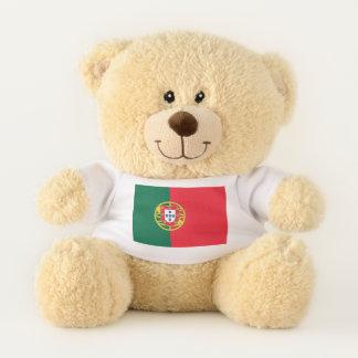 Ursinho De Pelúcia Bandeira patriótica do urso de ursinho de Portugal