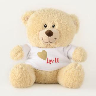 Ursinho De Pelúcia Coração do ouro eu te amo