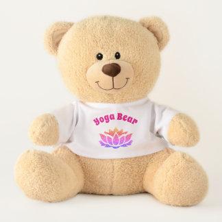 Ursinho De Pelúcia Design bonito da ioga da flor de Lotus