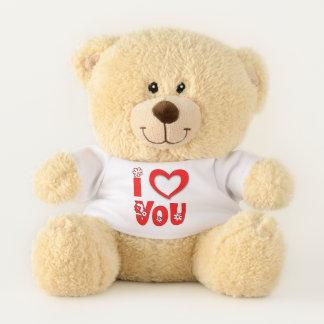Ursinho De Pelúcia Diga eu te amo com o urso de ursinho do coração
