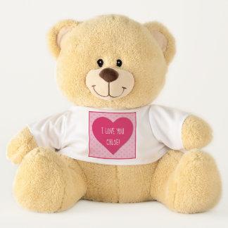 """Ursinho De Pelúcia """"Eu te amo"""" urso de ursinho"""