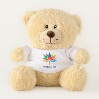 Ursinho De Pelúcia Logotipo do oficial de Canadá 150 - multicolorido