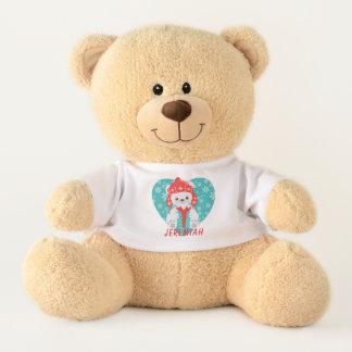 Ursinho De Pelúcia Natal do urso polar do coração do floco de neve da